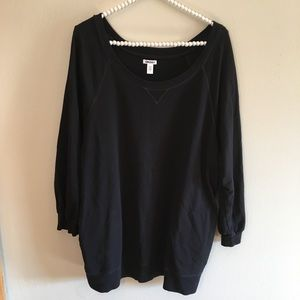 DKNY long sleeve black pull over sweater size XL